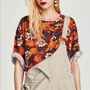 Zara | autumn floral print tee
